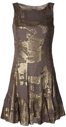 Anna Sui gold print dress