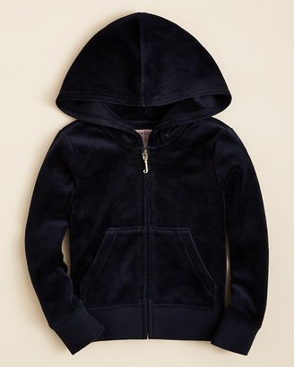 Juicy Couture Girls' Velour Hoodie - Sizes 2-5
