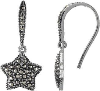 Swarovski Lavish By Tjm Lavish by TJM Sterling Silver Star Drop Earrings - Made with Marcasite