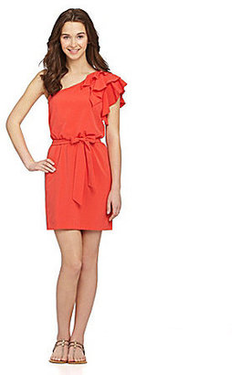 B. Darlin One-Shoulder Ruffle Dress