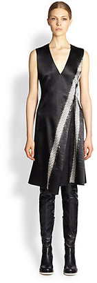 Reed Krakoff Python Stripe Satin Dress