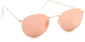 Ray-Ban Icons Mirrored Sunglasses $175 thestylecure.com