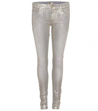 Mother METALLIC COATED SKINNY JEANS
