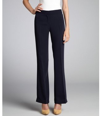 Tahari midnight dream blue 'Theora' flat front pants