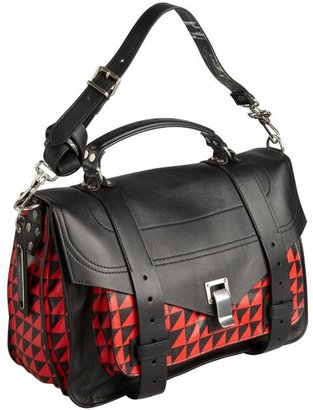 Proenza Schouler black and red houndstooth leather medium 'PS 1' convertible shoulder bag