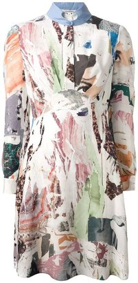 Carven collage print blouse dress