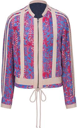 See by Chloe Pink/Blue Multi Silk Jacket