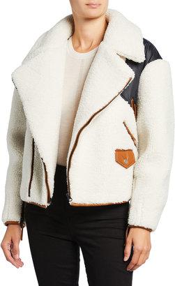 Frame Fleece Mix Zip-Front Jacket