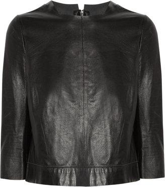 J Brand Baez leather top