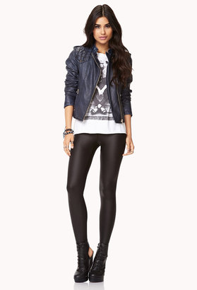 Forever 21 Forever Cool Faux Leather Jacket
