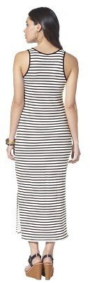 Xhilaration Mossimo® Women's Knit Maxi Dress - Black/White Stripe