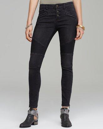 Free People Jeans - Mid Rise Moto Skinny in Moonlight