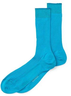 Turnbull & Asser Cotton Mid Calf Socks $40 thestylecure.com