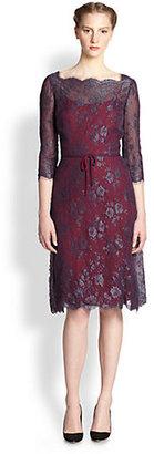 Carolina Herrera Scalloped Lace Dress