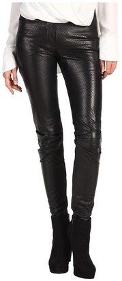 Edun Perforated Leather Skinny Pant