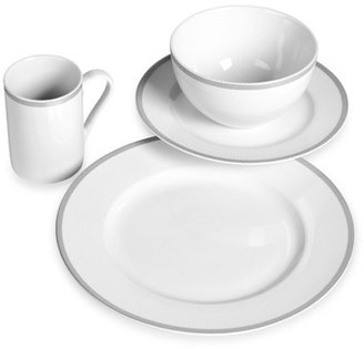 Bed Bath & Beyond TABLETOPS gallery® 16-Piece Dynasty Dinnerware Set - Silver Band