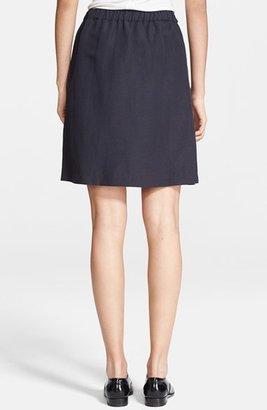 A.P.C. Drawstring Linen Blend Skirt