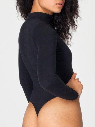 American Apparel Cotton Spandex Jersey Mock Neck Bodysuit