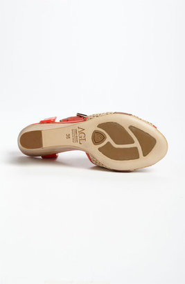 Attilio Giusti Leombruni Wood Wedge Sandal