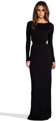 Pencey EXCLUSIVE Long Sleeve Open Back Maxi Dress