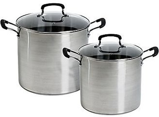 JCPenney jcp homeTM 12- & 16-qt. Stainless Steel Stock Pot Set