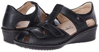 Finn Comfort Funen (Black Nappa Leather) Women's Shoes