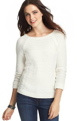 LOFT Petite Textured Front Sweater