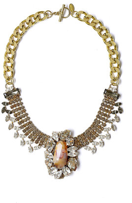 Anton Heunis Statement Crystal & Agate Necklace
