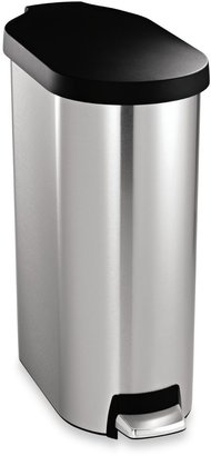 Simplehuman 45-Liter Slim Stainless Steel Step Can