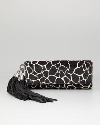 Z Spoke Zac Posen Claudette Calf Hair Tassel Clutch Bag