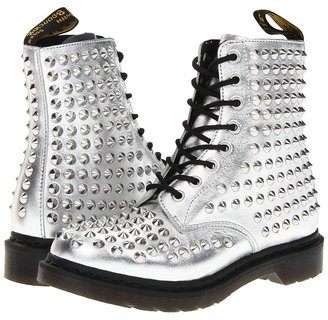 Dr. Martens Spike All Stud 8-Eye Boot (Silver) - Footwear
