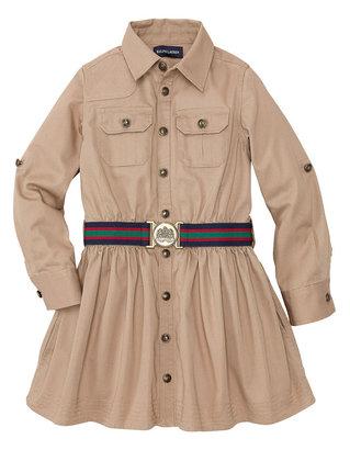 Ralph Lauren Girls 2-6x Twill Cargo Shirtdress