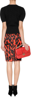 Moschino Cheap & Chic Animal Print Pencil Skirt