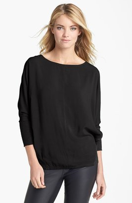 Vince Camuto Two by Dolman Sleeve Mixed Media Tee