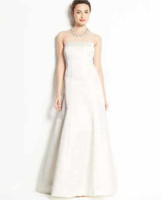 Ann Taylor Duchess Satin Strapless Wedding Dress