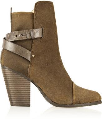 Rag and Bone Rag & bone Rag & Bone Kinsey Leather-Trimmed Waxed-Suede Ankle Boots