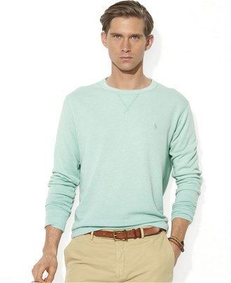 Polo Ralph Lauren Pullover Shirt, Long-Sleeved Atlantic Terry Crewneck Pullover Shirt
