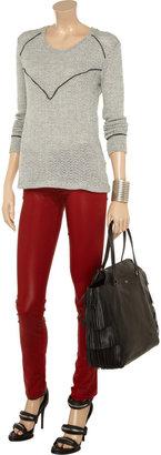 LnA Carine open-knit cotton-blend sweater