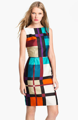 Kate Spade 'purdy' cotton & silk sheath dress (Nordstrom Exclusive)