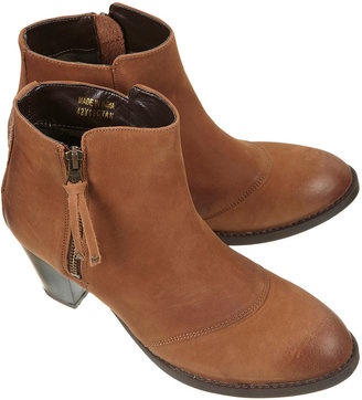 Topshop MIGHTY Tan Leather Zip Boots