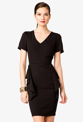 Forever 21 V-Neck Peplum Dress