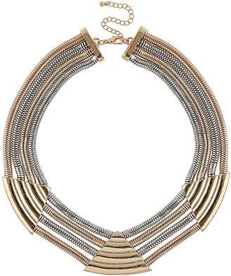 Topshop Premium Chain Triangle Collar