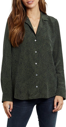 Rails Rebel Silk Button-Down Top with Pocket