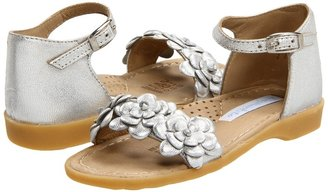 Elephantito Classic Sandal w/Flowers (Toddler/Little Kid/Big Kid) (Silver) - Footwear