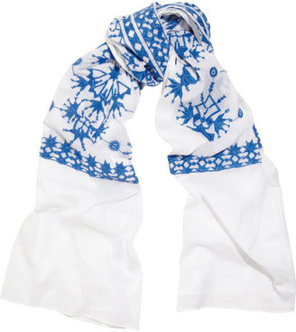 Rose & Rose Aix embroidered cotton scarf