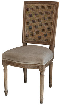 Boho Weathered French Linen Dining Chairs (Set of 2)