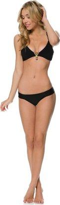 Saha Kari Beaded Cross Back Bikini Top