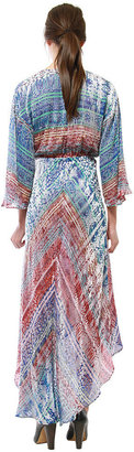 Cynthia Vincent High-Low V Neck Dress