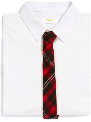 Topman Red Large Check 5cm Tie