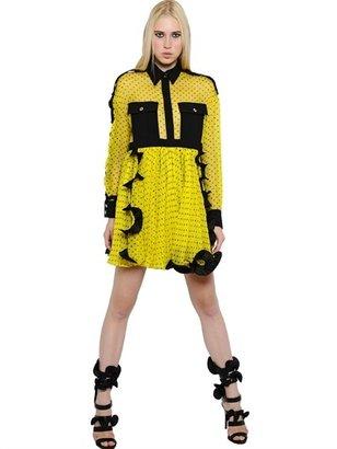 Ungaro Polka Dot Chiffon Silk Dress